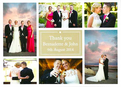 Bernie and John Wedding testimonial